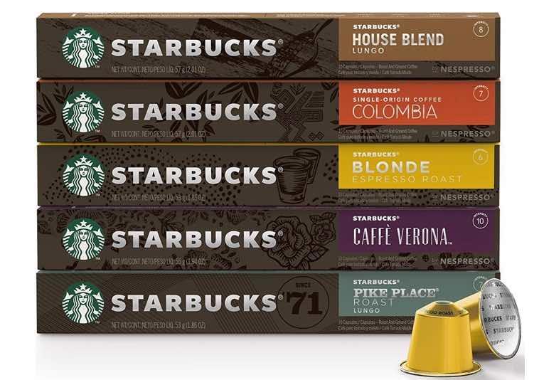 2. แคปซูลกาแฟ ยี่ห้อ Starbuck by NESPRESSO