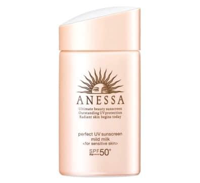ขอแนะนำ ครีมกันแดดสำหรับคนผิวหน้าแพ้ง่าย ยี่ห้อ Anessa Perfect UV Sunscreen Sensitive Skin Mild Milk SPF 50+ PA++++