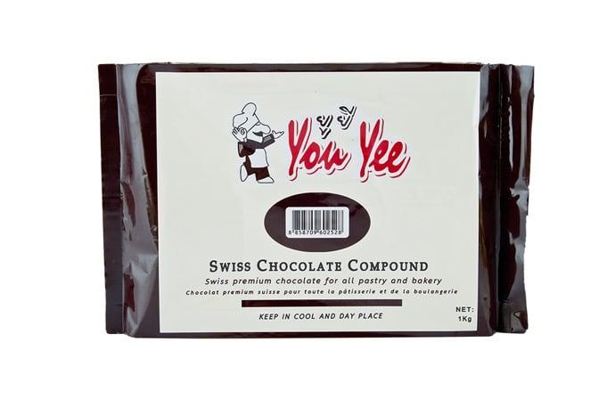 6. ช็อกโกแลตคอมพาวด์ ยี่ห้อ You Yee Swiss Chocolate Compound