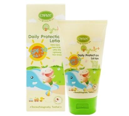 2.  ครีมกันแดดสำหรับเด็ก ยี่ห้อ Enfant Organic Plus Daily Protection Lotion