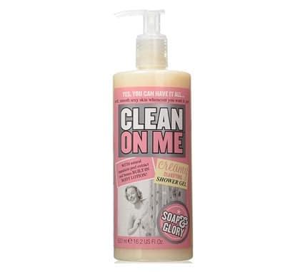 3. ครีมอาบน้ำ ตัวหอม ยี่ห้อ Soap and Glory Clean On Me Creamy Clarifying Shower Gel