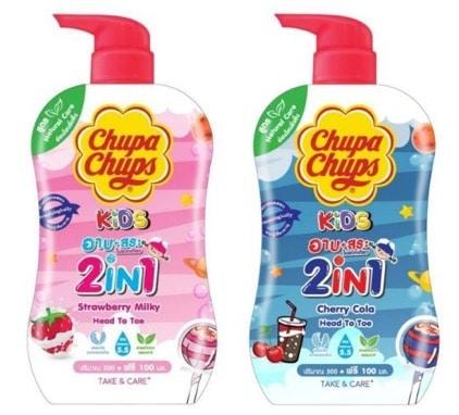 10. ครีมอาบน้ำ ตัวหอม ยี่ห้อ Chupa Chups HEAD TO TOE