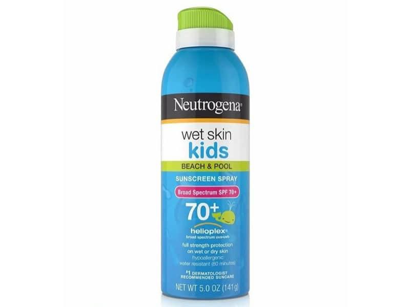 5. กันแดดเด็ก ยี่ห้อ Neutrogena Wet Skin Kids Beach & Pool Sunscreen Spray SPF 70+