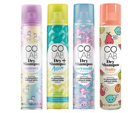 3.  สเปรย์สระผมแห้ง ยี่ห้อ COLAB Dry Shampoo