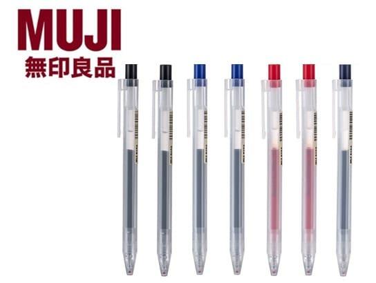 10. ยี่ห้อ MUJI ปากกาเจลแบบกด
