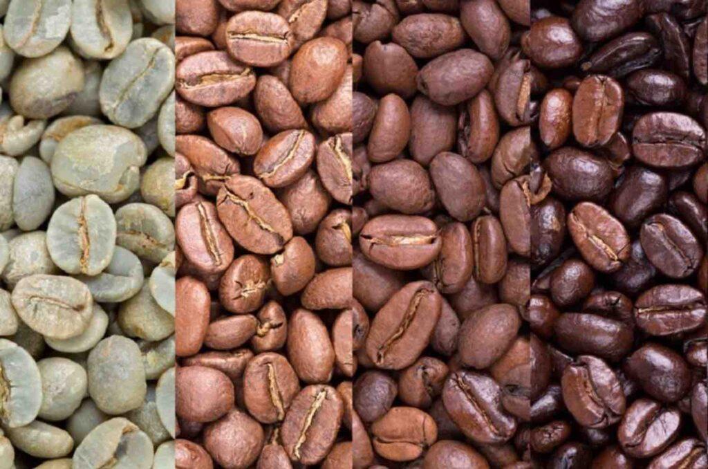 การคั่วเมล็ดกาแฟที่แตกต่างกัน ก็จะทำให้สี กลิ่น และรสชาติแตกต่างกันไปด้วย
